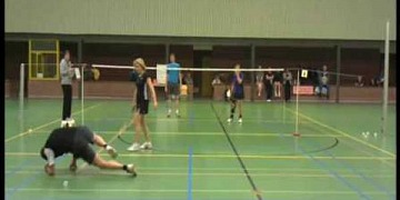 Badminton Player Stops Himself